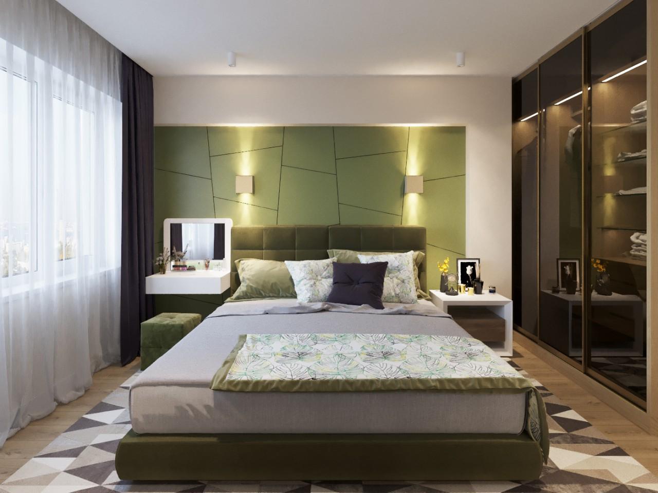 Дизайн интерьера спальни. Вариант 1