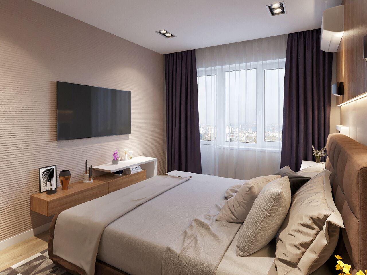 Дизайн интерьера спальни. Вариант 2